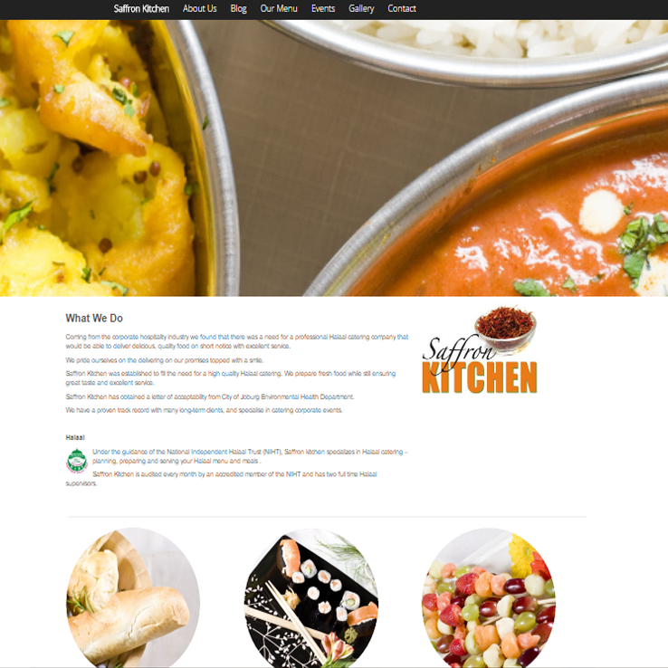 Saffron Kitchen Website.
